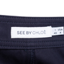 Authentic Second Hand See by Chloe Front Detail Navy Shorts (PSS-515-00204) - Thumbnail 2