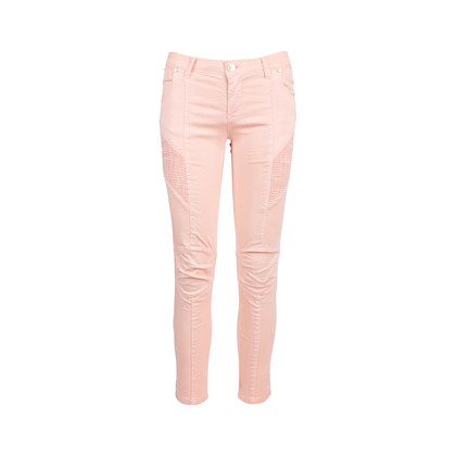 Authentic Second Hand Pierre Balmain Pink Moto Skinny Jeans (PSS-515-00206)