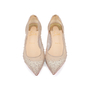 Authentic Pre Owned Christian Louboutin Follies Strass Mesh and Leather Flats (PSS-197-00109) - Thumbnail 0