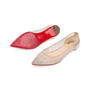 Authentic Second Hand Christian Louboutin Follies Strass Mesh and Leather Flats (PSS-197-00109) - Thumbnail 1