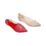 Authentic Pre Owned Christian Louboutin Follies Strass Mesh and Leather Flats (PSS-197-00109) - Thumbnail 2