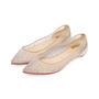 Authentic Pre Owned Christian Louboutin Follies Strass Mesh and Leather Flats (PSS-197-00109) - Thumbnail 3