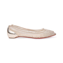 Authentic Pre Owned Christian Louboutin Follies Strass Mesh and Leather Flats (PSS-197-00109) - Thumbnail 4