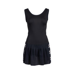 Karlito Perforated Stretch-Jersey Tennis Dress