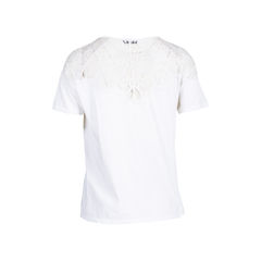 Sandro lace trim top white 2?1545317015