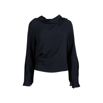 Authentic Second Hand Roland Mouret Leyton Draped Crepe Top (PSS-197-00107)