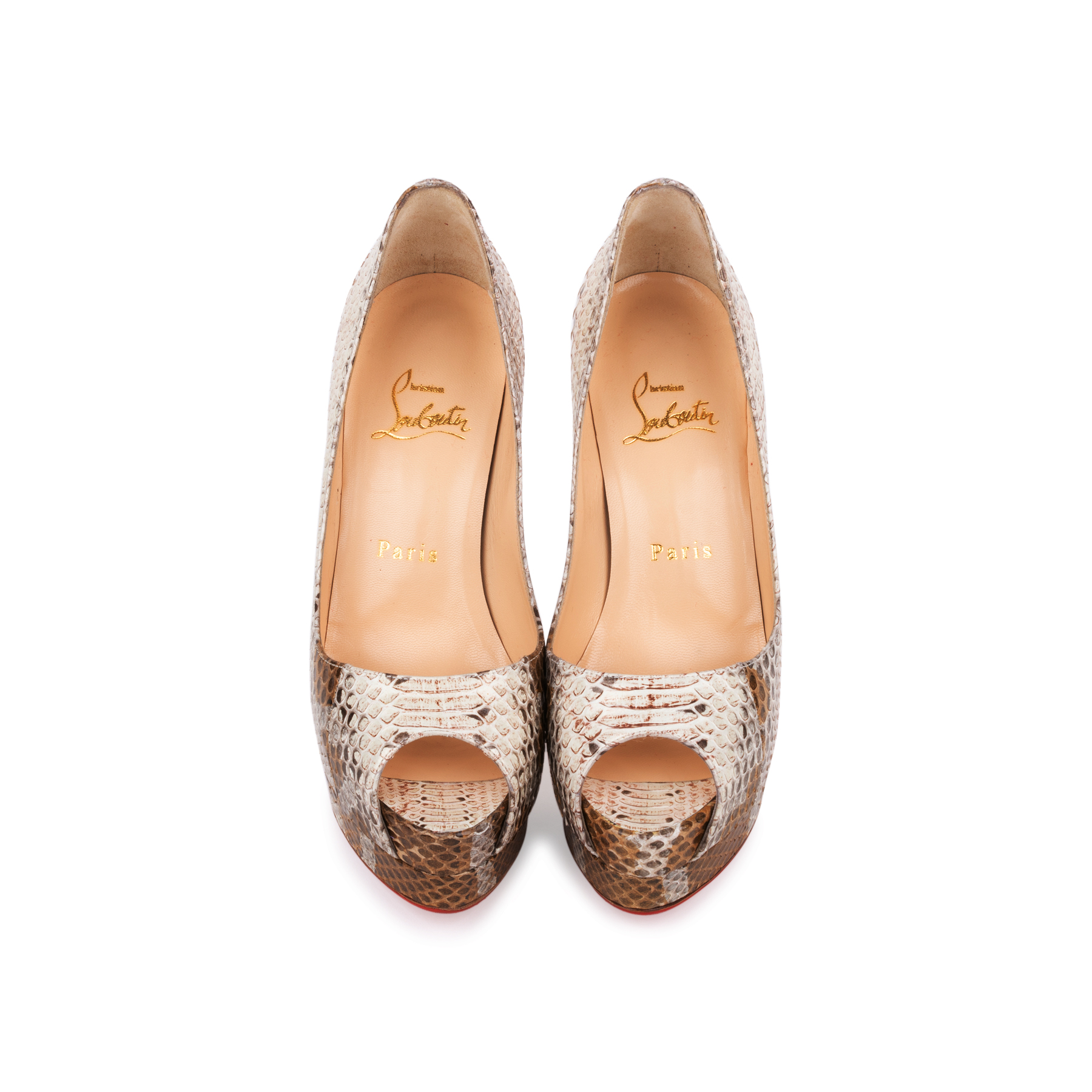 51085f63a1c61 Authentic Second Hand Christian Louboutin Altadama Watersnake 140 Pumps  (PSS-556-00021) - THE FIFTH COLLECTION