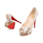 Authentic Pre Owned Christian Louboutin Altadama Watersnake 140 Pumps (PSS-556-00021) - Thumbnail 1