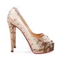 Authentic Pre Owned Christian Louboutin Altadama Watersnake 140 Pumps (PSS-556-00021) - Thumbnail 4