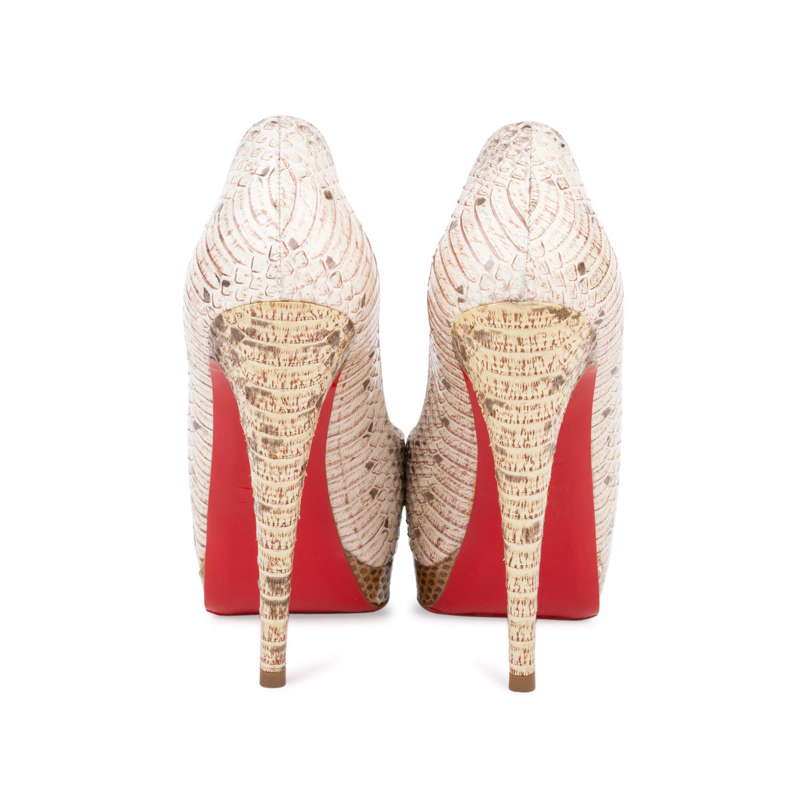 a5c9abe82cb93 ... Authentic Second Hand Christian Louboutin Altadama Watersnake 140 Pumps  (PSS-556-00021) ...