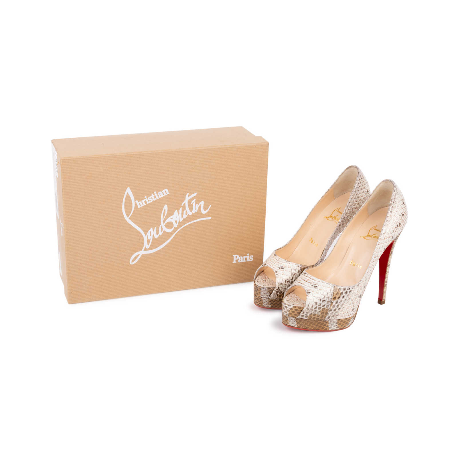 f4e53922c3ce9 ... Authentic Second Hand Christian Louboutin Altadama Watersnake 140 Pumps  (PSS-556-00021)