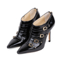 Authentic Pre Owned Jimmy Choo Patent Ankle Boots (PSS-556-00023) - Thumbnail 3