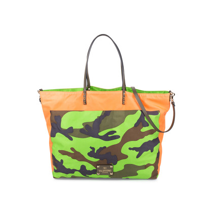 Authentic Pre Owned Valentino Reversible Rockstud Camo Tote (PSS-556-00025)