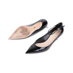 Christian dior ankle strap patent pumps 2?1545632974