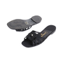 Authentic Second Hand Chanel Satin Camellia Slides (PSS-051-00418) - Thumbnail 1