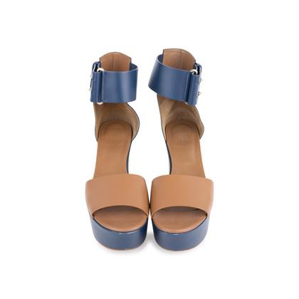Authentic Second Hand Hermès Bicolour Platform Sandals (PSS-051-00419)