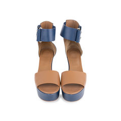 Bicolour Platform Sandals