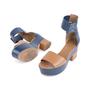 Authentic Second Hand Hermès Bicolour Platform Sandals (PSS-051-00419) - Thumbnail 1