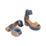 Authentic Second Hand Hermès Bicolour Platform Sandals (PSS-051-00419) - Thumbnail 2