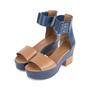 Authentic Second Hand Hermès Bicolour Platform Sandals (PSS-051-00419) - Thumbnail 3