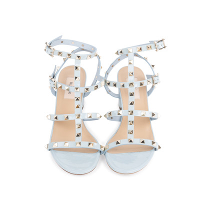 Authentic Pre Owned Valentino Rockstud Block Heel Sandals (PSS-051-00420)
