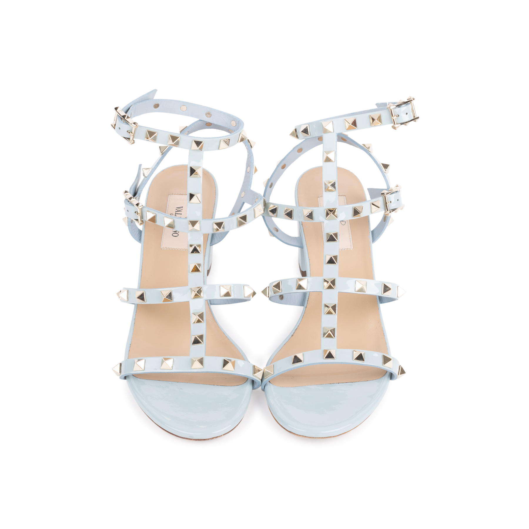 4b58775bf Authentic Second Hand Valentino Rockstud Block Heel Sandals (PSS-051-00420)  - THE FIFTH COLLECTION