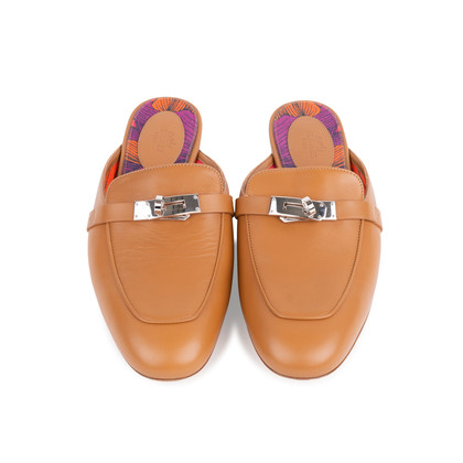 Authentic Second Hand Hermès Oz Mules (PSS-051-00424)
