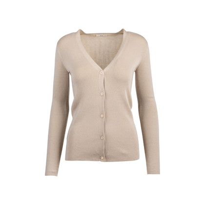 Authentic Pre Owned Prada Nude Cashmere Silk Blend Cardigan (PSS-051-00450)