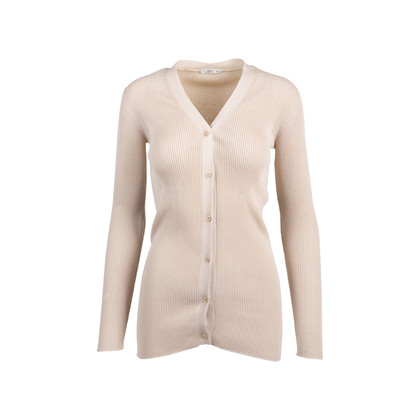 Authentic Pre Owned Prada Nude Rib Knit Cardigan (PSS-051-00451)