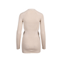 Authentic Pre Owned Prada Nude Rib Knit Cardigan (PSS-051-00451) - Thumbnail 1