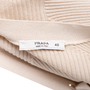 Authentic Pre Owned Prada Nude Rib Knit Cardigan (PSS-051-00451) - Thumbnail 2