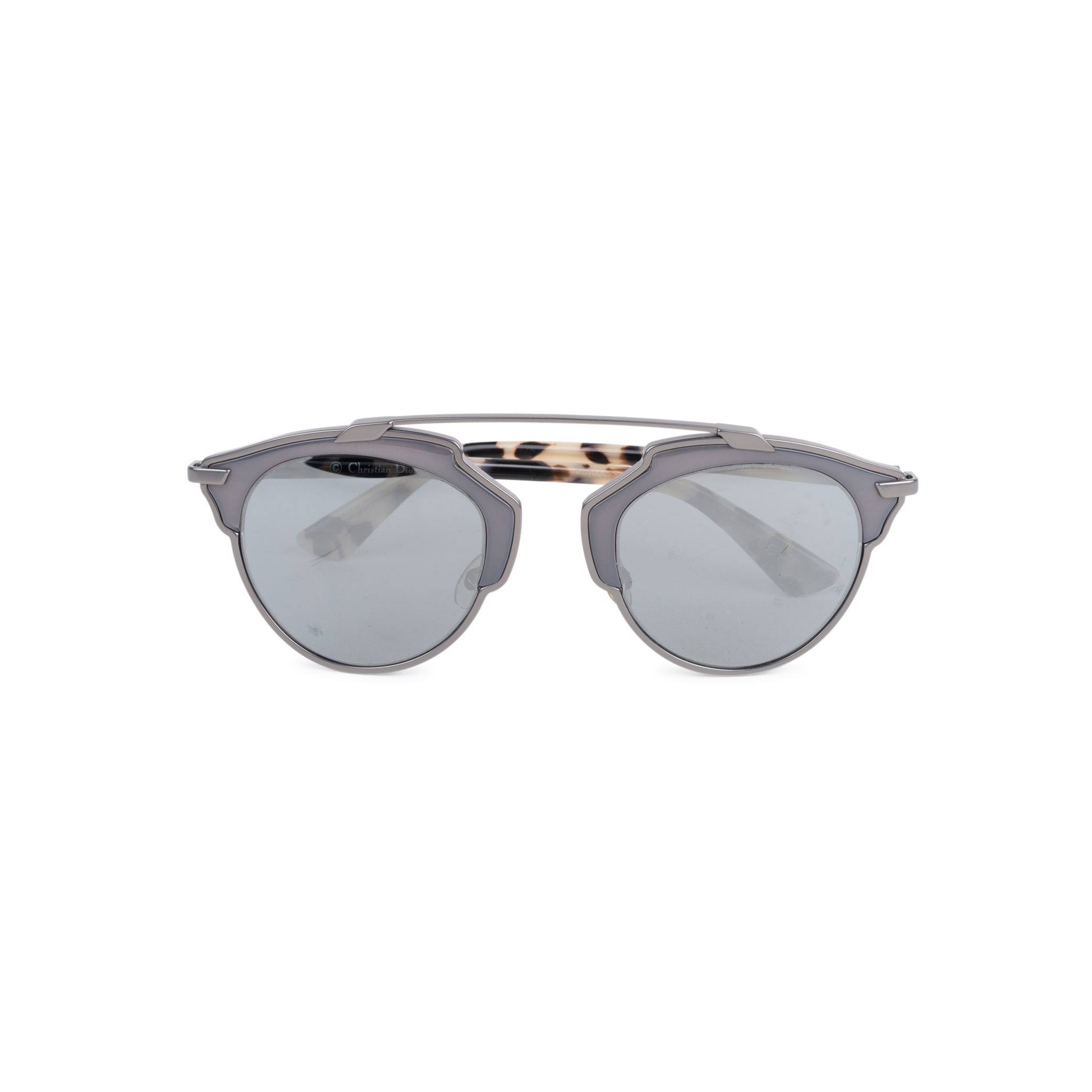4321323304 Authentic Second Hand Christian Dior So Real Tortoiseshell Mirrored  Sunglasses (PSS-145-00263)