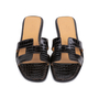 Authentic Second Hand Hermès Crocodile Oran Sandals (PSS-145-00266) - Thumbnail 0