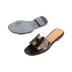 Hermes crocodile oran sandals 2?1545635086