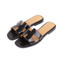 Authentic Second Hand Hermès Crocodile Oran Sandals (PSS-145-00266) - Thumbnail 3