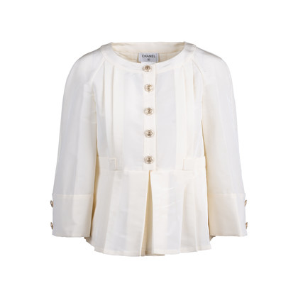 Authentic Pre Owned Chanel Peplum Pleated Jacket (PSS-051-00431)