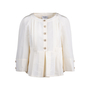 Authentic Pre Owned Chanel Peplum Pleated Jacket (PSS-051-00431) - Thumbnail 0