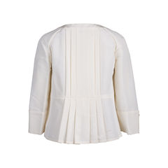 Chanel peplum pleated jacket 2?1545635218