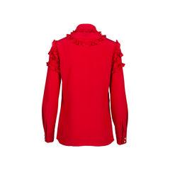 Gucci silk ruffle front blouse 2?1545740929