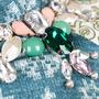 Authentic Second Hand Biyan Chrysant Satin Peplum Blouse (PSS-051-00444) - Thumbnail 3