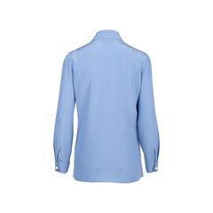 Gucci silk ruffle faux pearl blouse 2?1545741046