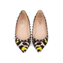 Authentic Pre Owned Valentino Leopard Print Rockstud Flats (PSS-159-00007) - Thumbnail 0