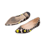 Authentic Pre Owned Valentino Leopard Print Rockstud Flats (PSS-159-00007) - Thumbnail 1