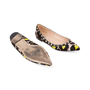 Authentic Pre Owned Valentino Leopard Print Rockstud Flats (PSS-159-00007) - Thumbnail 2