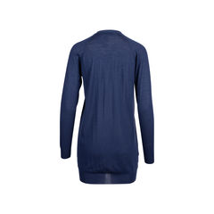 Prada navy wool long cardigan 2?1545906772