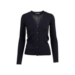 Black Cashmere Blend Silk Cardigan