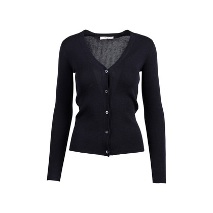 Authentic Pre Owned Prada Black Cashmere Blend Silk Cardigan (PSS-051-00456)