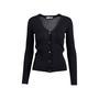 Authentic Pre Owned Prada Black Cashmere Blend Silk Cardigan (PSS-051-00456) - Thumbnail 0