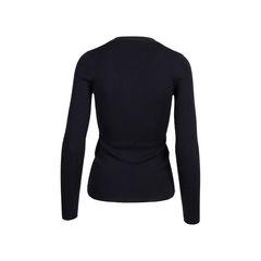 Prada black cashmere blend silk cardigan black 2?1545906850