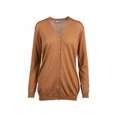 Light Brown Long Wool Cardigan